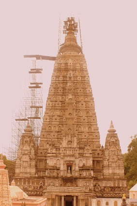 Mahabodhi temple - under construction