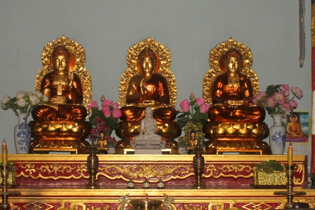 Budha display in Vietnami temple