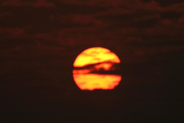 A beautiful sunrise. Time when I reached to Kanwar Lake