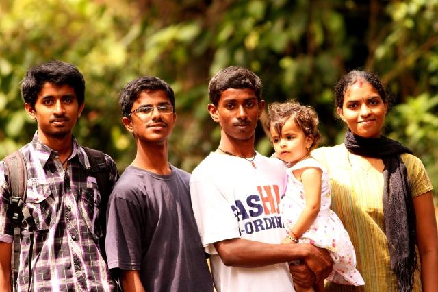 Our birding group - Puneeth, Chandu, Deepu, Kriti and Varalakshmi