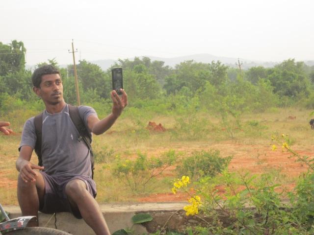 Deepu talking selfie