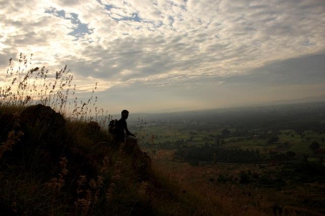 Chandra Shekar aka Chandu enjoy the eternal beauty of sky, land and wind.