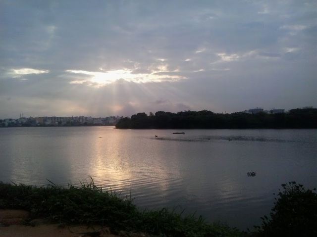 Sunrise at Madiwala Lake