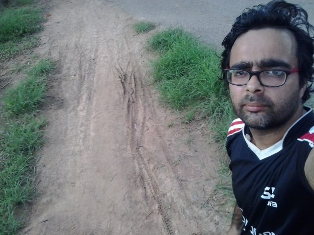 J P Nagar - Mini forest Track - Selfie. If you want to take Mud path.